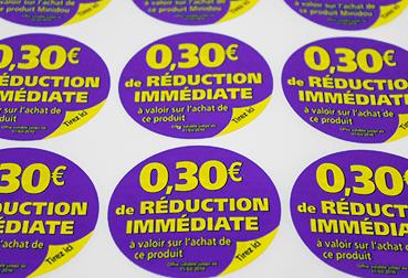 étiquette coupon de caisse