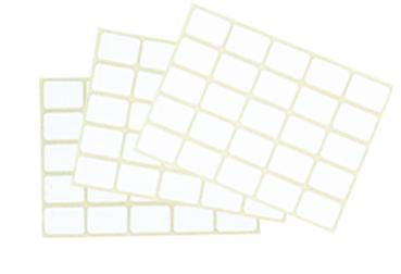 étiquettes adhésives planches blanches