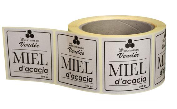 étiquettes en papier recyclé