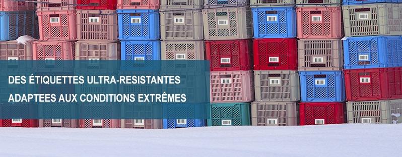 étiquettes adhésives résistantes températures extrêmes, Etik Ouest